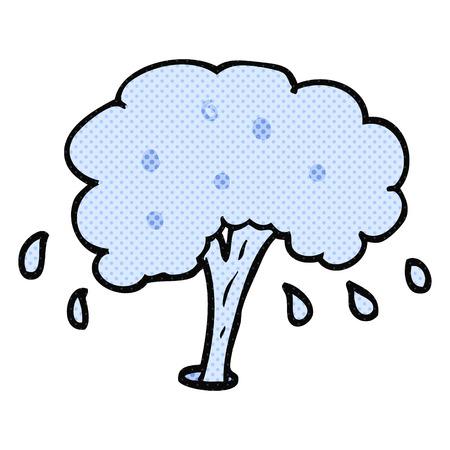 spurt: freehand drawn cartoon water spout Illustration