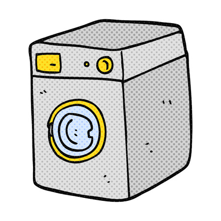 cartoon washing: freehand drawn cartoon washing machine