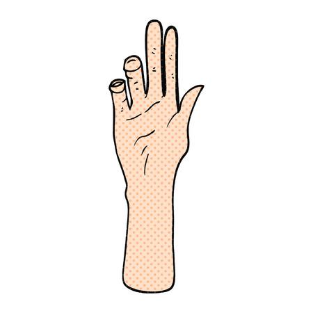 reaching hand: freehand drawn cartoon reaching hand