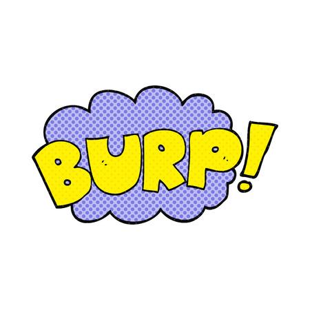 burp: freehand drawn cartoon burp text