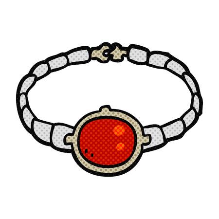 bracelet: freehand drawn cartoon ruby bracelet