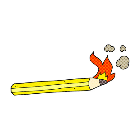 flaming: freehand drawn cartoon flaming pencil