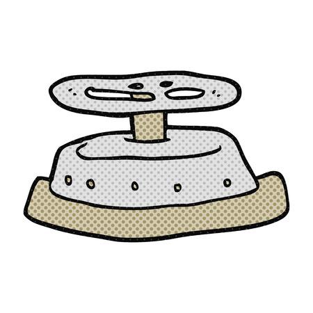 sealed: freehand drawn cartoon sealed bunker door Illustration