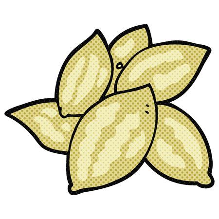 almonds: freehand drawn cartoon almonds