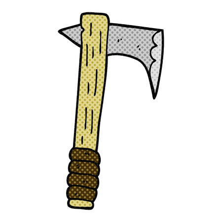 cartoon axe: freehand drawn cartoon axe