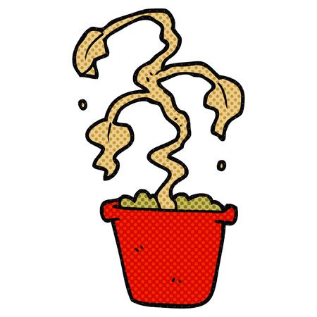 houseplant: freehand drawn cartoon dead houseplant