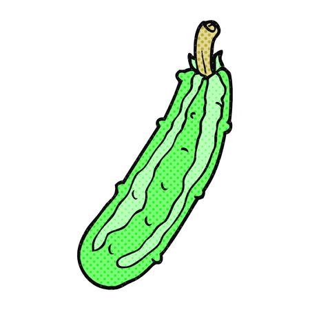 courgette: freehand drawn cartoon zucchini