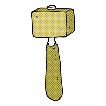 mallet: freehand drawn cartoon mallet
