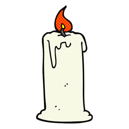 burning: freehand drawn cartoon burning candle
