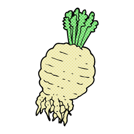turnip: freehand drawn cartoon turnip Illustration