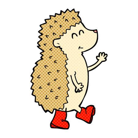 cartoon hedgehog: cute freehand drawn cartoon hedgehog Illustration