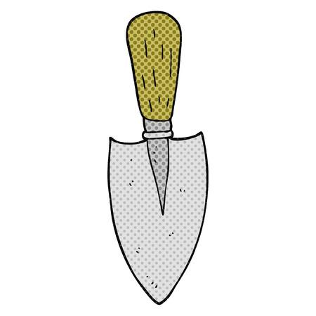 hand trowels: freehand drawn cartoon garden trowel Illustration