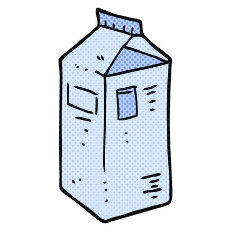 carton de leche: a mano alzada dibujo animado hecho cartón de leche