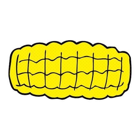 corn on the cob: freehand drawn cartoon corn cob