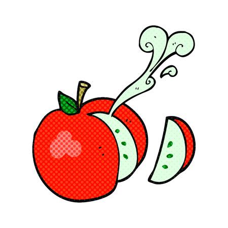 자유형 그려진 된 만화 얇게 썬된 사과 스톡 콘텐츠 - 53439320