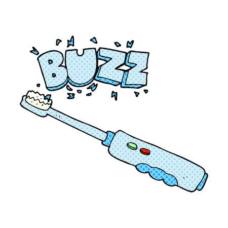 buzzing: freehand drawn cartoon buzzing electric toothbrush Illustration