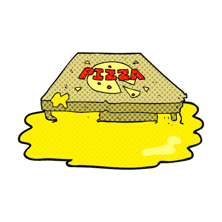 cartoon pizza: freehand drawn cartoon pizza