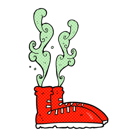 smelly: freehand drawn cartoon smelly sneakers