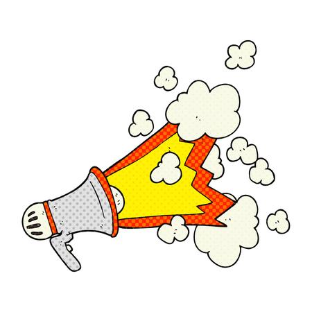 loudhailer: freehand drawn cartoon loudhailer