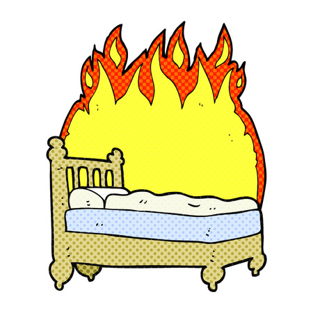 freehand drawn cartoon beds are burning Stock fotó - 53444433