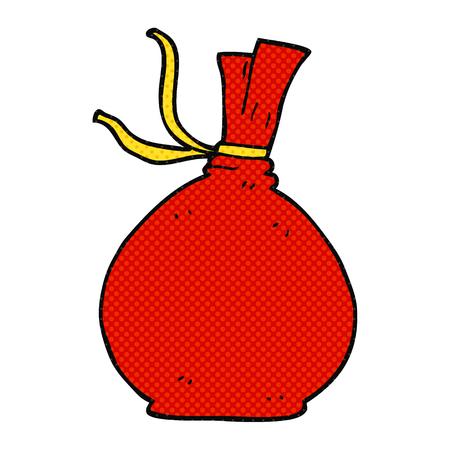 santa sack: freehand drawn cartoon christmas santa sack Illustration