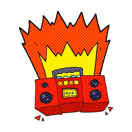 boom box: freehand drawn cartoon boom box