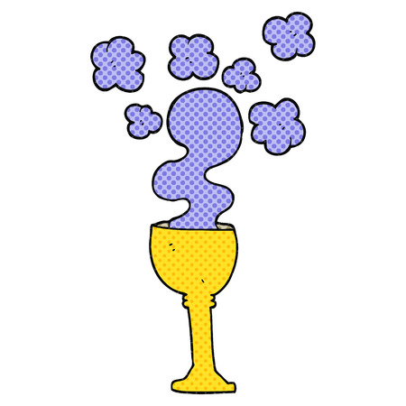 goblet: freehand drawn comic book style cartoon spooky halloween goblet Illustration