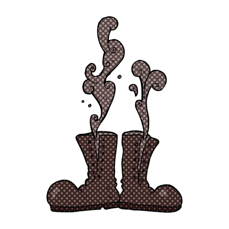army boots: freehand drawn cartoon steaming army boots Illustration