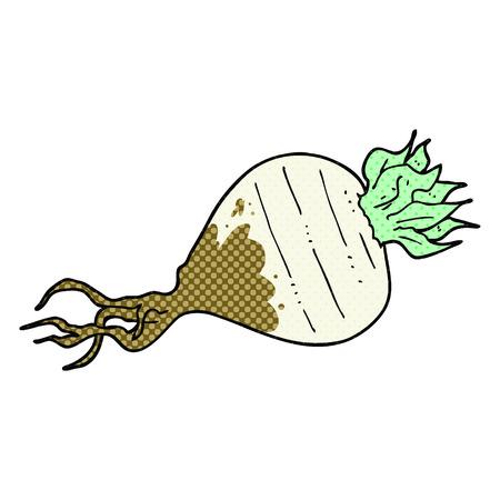 turnip: freehand drawn comic book style cartoon turnip