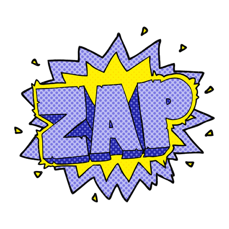 zap: happy freehand comic book style cartoon zap explosion sign