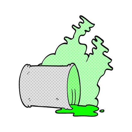 spilled: freehand drawn cartoon spilled chemicals Illustration