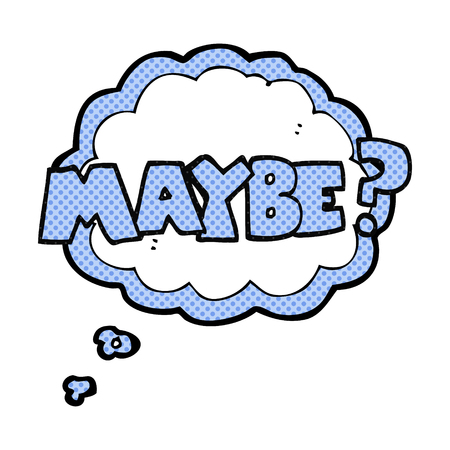 maybe: maybe freehand drawn comic book style cartoon symbol