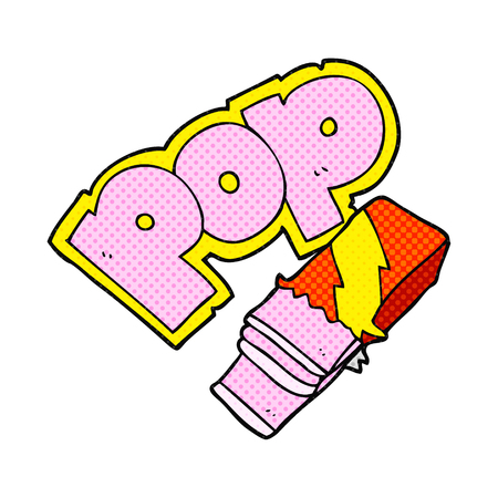 bubble gum: freehand drawn comic book style cartoon bubble gum