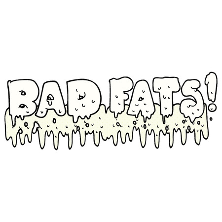 mould: freehand drawn comic book style cartoon bad fats