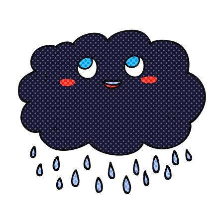 stormcloud: freehand drawn comic book style cartoon raincloud