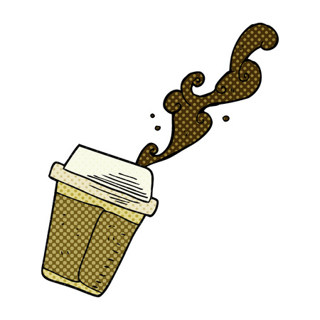 spilling: freehand drawn cartoon spilling coffee Illustration