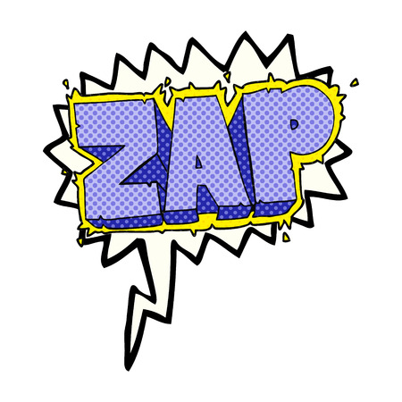 comic bubble: freehand drawn comic book speech bubble cartoon zap symbol