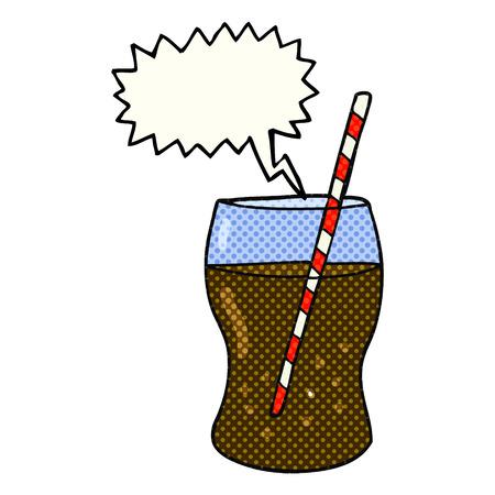 fizzy: freehand drawn comic book speech bubble cartoon fizzy drink Illustration