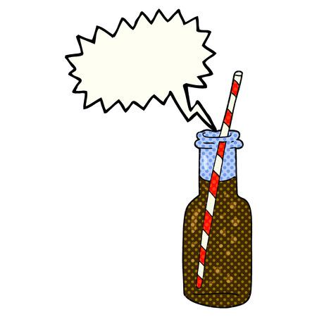 fizzy: freehand drawn comic book speech bubble cartoon fizzy drink bottle