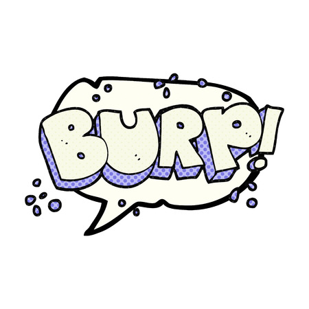 belch: freehand drawn comic book speech bubble cartoon burp text