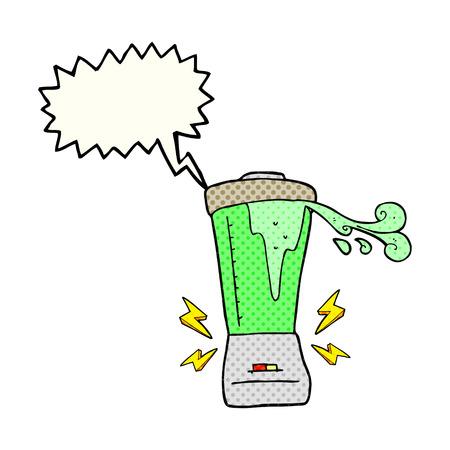 gone: freehand drawn comic book speech bubble cartoon blender gone crazy