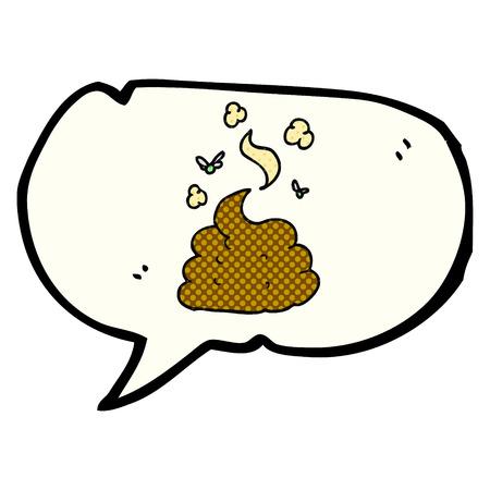 freehand drawn comic book speech bubble cartoon gross poop