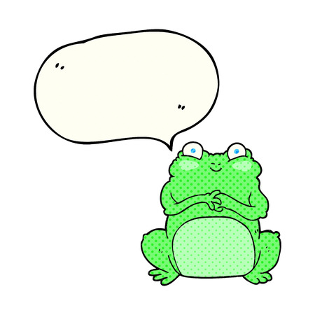 crazy frog: freehand drawn comic book speech bubble cartoon funny frog Illustration