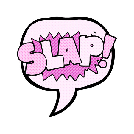slap: freehand drawn comic book speech bubble cartoon slap symbol