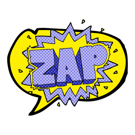 zap: happy freehand comic book speech bubble cartoon zap explosion sign