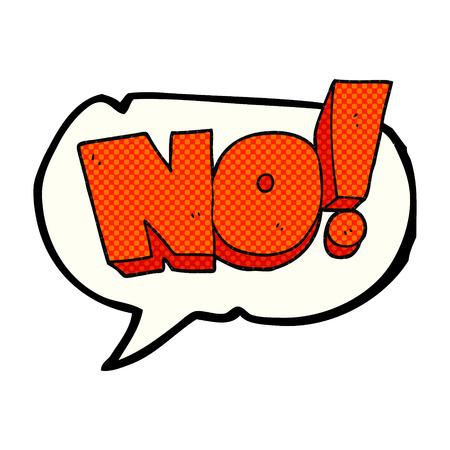 shout: freehand drawn comic book speech bubble cartoon NO! shout Illustration