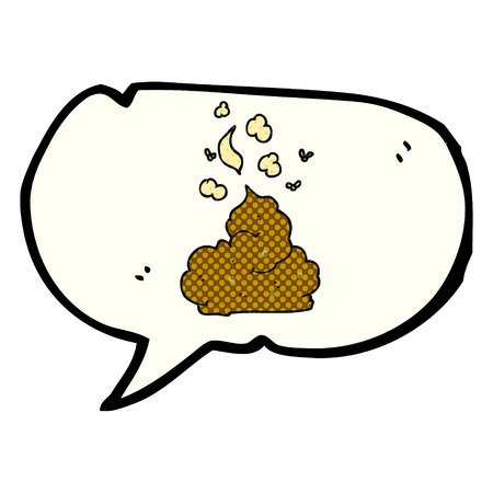 stinking: freehand drawn comic book speech bubble cartoon gross poop