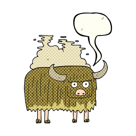 smelly: freehand drawn comic book speech bubble cartoon smelly cow