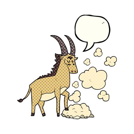 antelope: freehand drawn comic book speech bubble cartoon antelope