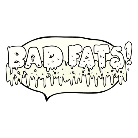 mould: freehand drawn comic book speech bubble cartoon bad fats Illustration